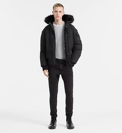Hooded Bomber Jacket - CK BLACK - CALVIN KLEIN JEANS CLOTHES - detail image 1