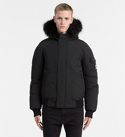 Hooded Bomber Jacket - CK BLACK - CALVIN KLEIN JEANS CLOTHES - main image