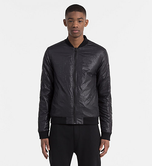 CALVIN KLEIN JEANS Logo-Embossed Padded Bomber Jacket - CK BLACK - CALVIN KLEIN JEANS CLOTHES - main image