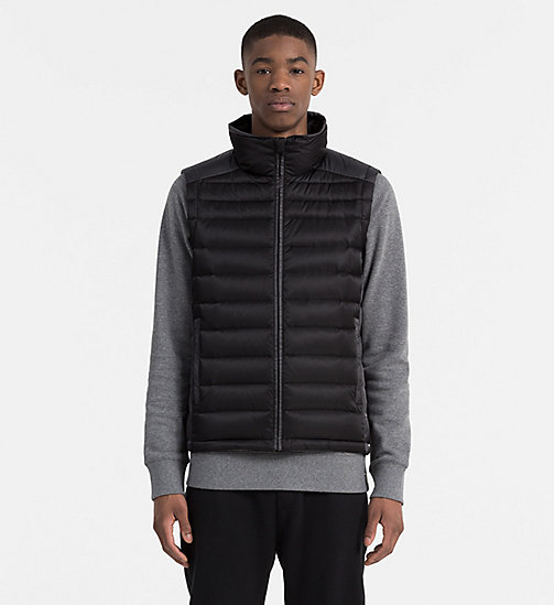 CALVIN KLEIN JEANS Packable Quilted Down Vest - CK BLACK - CALVIN KLEIN JEANS VESTS - main image