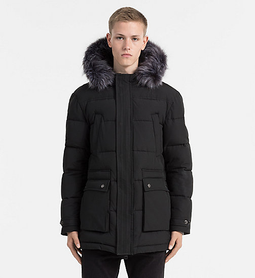 Padded Parka Jacket - CK BLACK - CALVIN KLEIN JEANS CLOTHES - main image