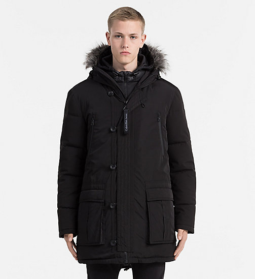 2-in-1 Down Parka Coat - CK BLACK - CALVIN KLEIN JEANS CLOTHES - main image