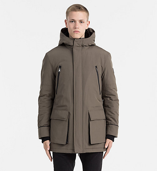 CALVIN KLEIN JEANS Padded Parka Jacket - MAJOR BROWN - CALVIN KLEIN JEANS COLD COMFORTS - main image