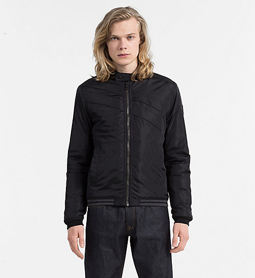 Padded Racer Jacket - CK BLACK - CALVIN KLEIN JEANS CLOTHES - main image