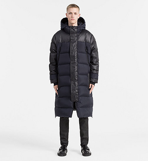 CALVIN KLEIN JEANS Oversized Hooded Down Coat - NIGHT SKY/CK BLACK - CALVIN KLEIN JEANS COATS - detail image 1