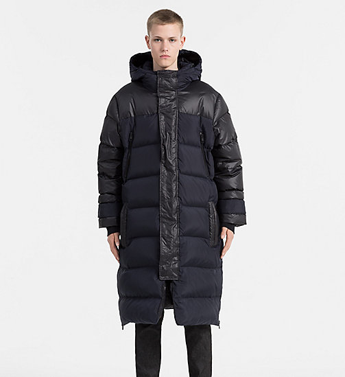 CALVIN KLEIN JEANS Oversized Hooded Down Coat - NIGHT SKY/CK BLACK - CALVIN KLEIN JEANS COATS - main image