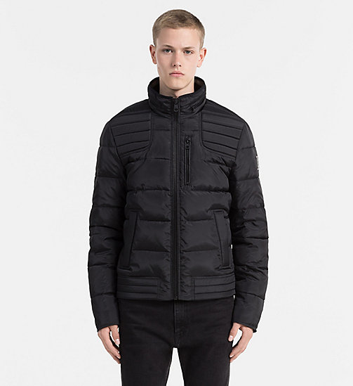 CALVIN KLEIN JEANS Glossy Quilted Jacket - CK BLACK - CALVIN KLEIN JEANS JACKETS - main image