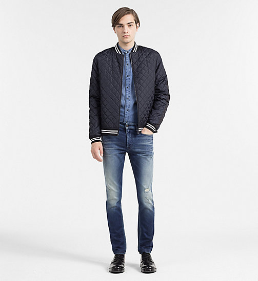 Quilted Bomber Jacket - NIGHT SKY - CK JEANS OUTERWEAR - detail image 1