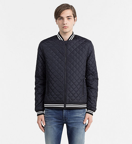 Quilted Bomber Jacket - NIGHT SKY - CK JEANS OUTERWEAR - main image