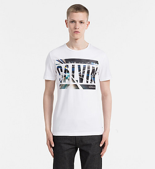CALVIN KLEIN JEANS Slim T-shirt met logo - BRIGHT WHITE - CALVIN KLEIN JEANS 24/7 musthaves - main image