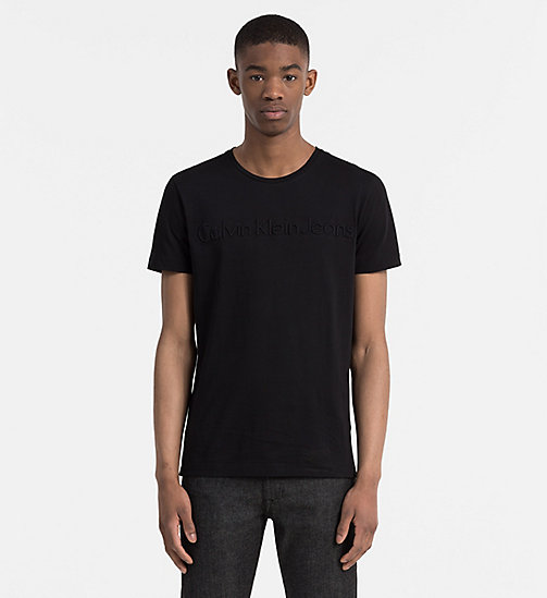 CALVIN KLEIN JEANS T-shirt met logo in reliëf - CK BLACK - CALVIN KLEIN JEANS 24/7 musthaves - main image