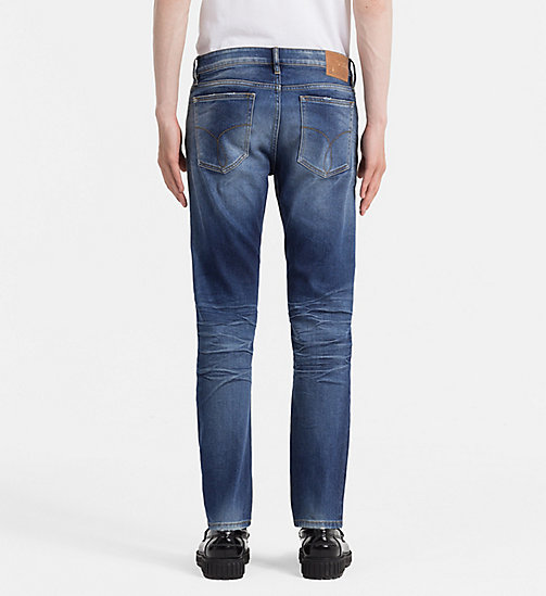 CALVIN KLEIN JEANS Slim Straight Jeans - POWER BLUE - CALVIN KLEIN JEANS NEW ARRIVALS - detail image 1