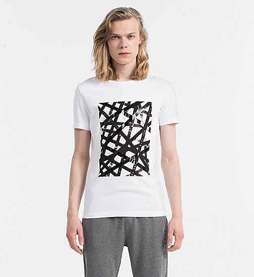 CALVIN KLEIN JEANS Slim Printed T-shirt - BRIGHT WHITE - CALVIN KLEIN JEANS COLD COMFORTS - main image