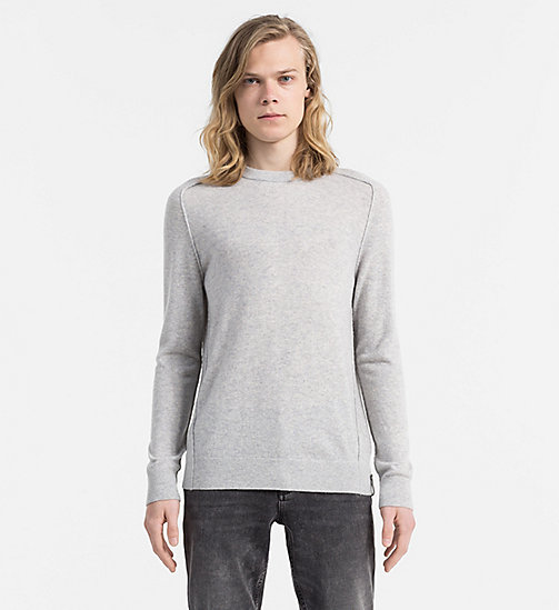 CALVIN KLEIN JEANS Kaschmir-Sweater - LIGHT GREY HEATHER - CALVIN KLEIN JEANS PULLOVER - main image