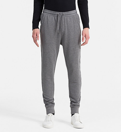 CALVIN KLEIN JEANS Embossed Logo Sweatpants - MID GREY HEATHER - CALVIN KLEIN JEANS 24/7 STAPLES - main image