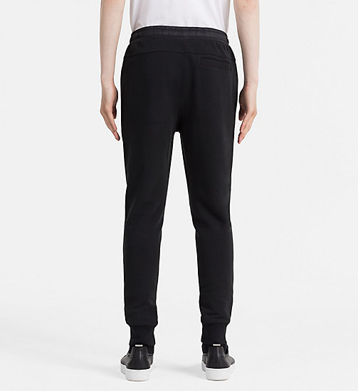 CALVIN KLEIN JEANS Embossed Logo Sweatpants - CK BLACK - CALVIN KLEIN JEANS JOGGING BOTTOMS - detail image 1