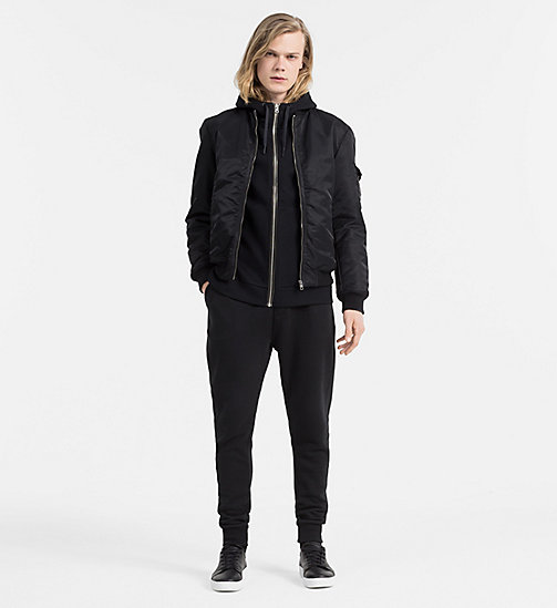 CALVIN KLEIN JEANS Zip-Through Hoodie - CK BLACK - CALVIN KLEIN JEANS CLOTHES - detail image 1