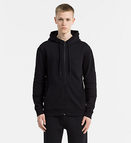 CALVIN KLEIN JEANS Zip-Through Hoodie - CK BLACK - CALVIN KLEIN JEANS JACKETS - main image