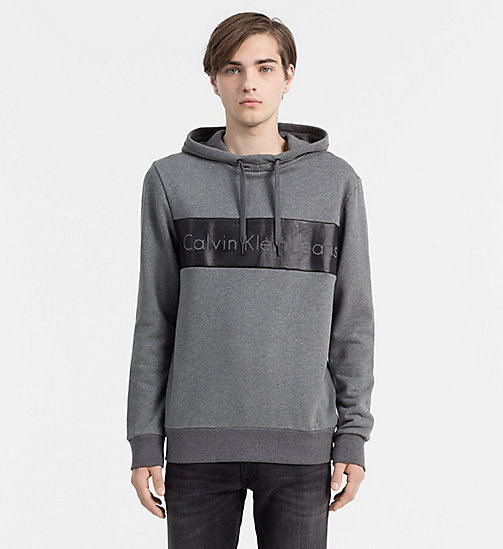 Logo Hoodie - MID GREY HEATHER - CK JEANS  - main image