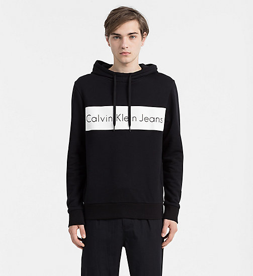 CALVIN KLEIN JEANS Logo Hoodie - CK BLACK - CALVIN KLEIN JEANS ACTION-PACKED - main image
