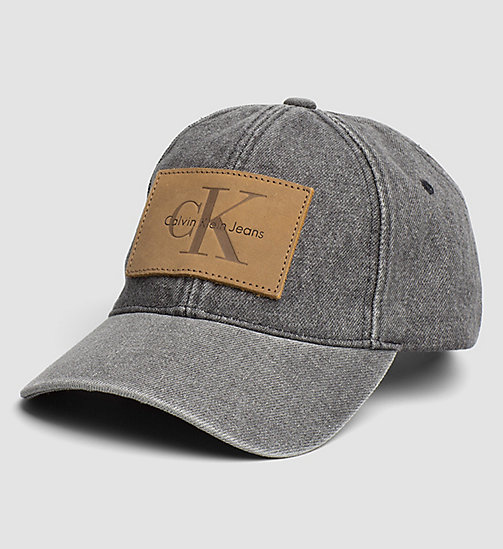 CKJEANS Denim Logo Cap - BLACK - CK JEANS HATS - main image