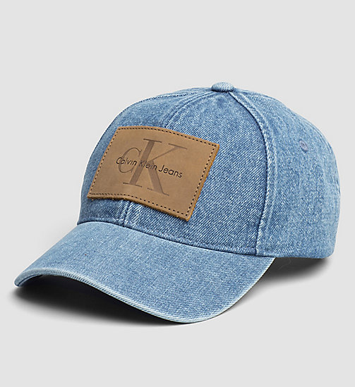 CKJEANS Denim Logo Cap - TOTAL ECLIPSE - CK JEANS HATS, SCARVES & GLOVES - main image