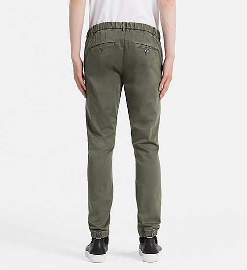 CALVIN KLEIN JEANS Jogger Chino Trousers - GRAPE LEAF - CALVIN KLEIN JEANS COLD COMFORTS - detail image 1