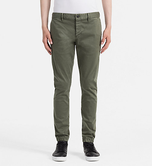 CALVIN KLEIN JEANS Jogger Chino Trousers - GRAPE LEAF - CALVIN KLEIN JEANS COLD COMFORTS - main image