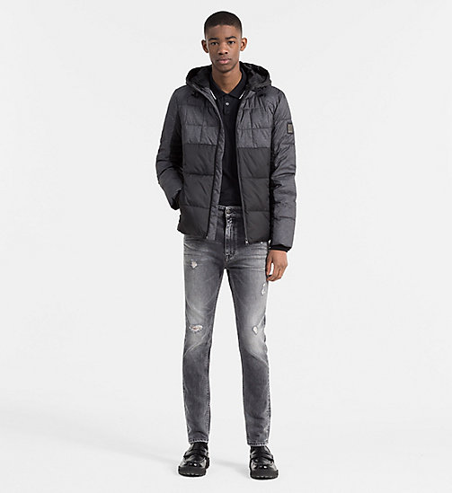 CALVIN KLEIN JEANS Material Mix Padded Jacket - CK BLACK/DARK GREY HEATHER - CALVIN KLEIN JEANS NEW ARRIVALS - detail image 1