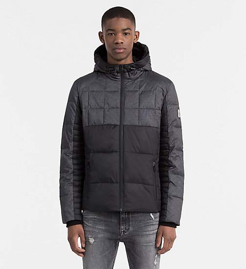 CALVIN KLEIN JEANS Material Mix Padded Jacket - CK BLACK/DARK GREY HEATHER - CALVIN KLEIN JEANS NEW ARRIVALS - main image