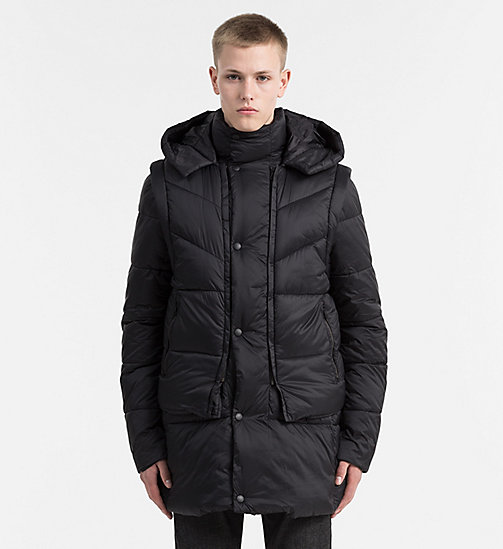 2-in-1 Padded Jacket - CK BLACK - CALVIN KLEIN JEANS CLOTHES - main image