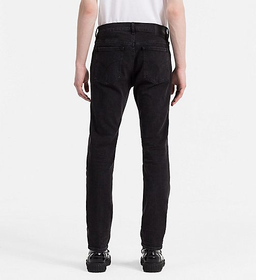 CALVIN KLEIN JEANS Straight Tapered Jeans - BLACK SPIDER - CALVIN KLEIN JEANS 24/7 STAPLES - detail image 1