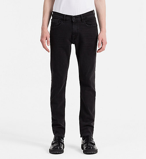 CALVIN KLEIN JEANS Straight Tapered Jeans - BLACK SPIDER - CALVIN KLEIN JEANS 24/7 STAPLES - main image