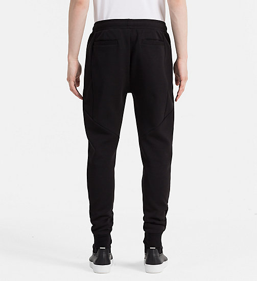 CALVIN KLEIN JEANS Cotton Blend Sweatpants - CK BLACK - CALVIN KLEIN JEANS JOGGING BOTTOMS - detail image 1