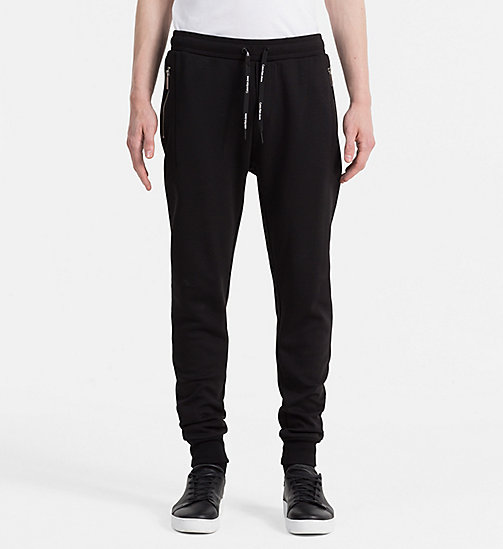 CALVIN KLEIN JEANS Cotton Blend Sweatpants - CK BLACK - CALVIN KLEIN JEANS JOGGING BOTTOMS - main image