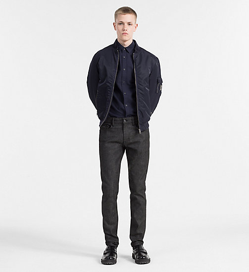 CALVIN KLEIN JEANS Slim Oxford Cotton Shirt - NIGHT SKY - CALVIN KLEIN JEANS NEW ARRIVALS - detail image 1