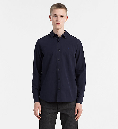 CALVIN KLEIN JEANS Slim Oxford Cotton Shirt - NIGHT SKY - CALVIN KLEIN JEANS CASUAL SHIRTS - main image