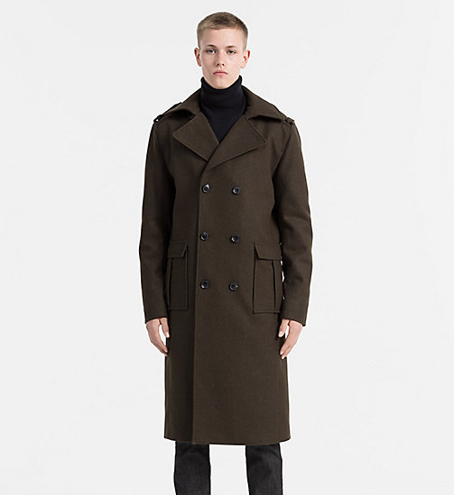 CALVIN KLEIN JEANS Wool Military Coat - GRAPE LEAF - CALVIN KLEIN JEANS COATS - main image