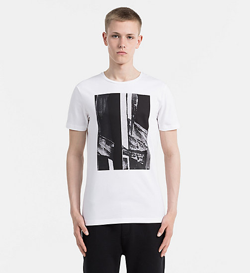 CALVIN KLEIN JEANS Slim Printed T-shirt - BRIGHT WHITE - CALVIN KLEIN JEANS NEW ARRIVALS - main image