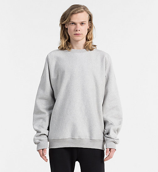 CALVIN KLEIN JEANS Oversized Logo Sweatshirt - LIGHT GREY HEATHER - CALVIN KLEIN JEANS 24/7 STAPLES - main image