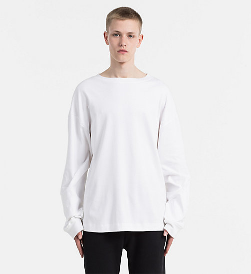 Embroidered Longsleeve T-shirt - BRIGHT WHITE - CALVIN KLEIN JEANS T-SHIRTS - main image