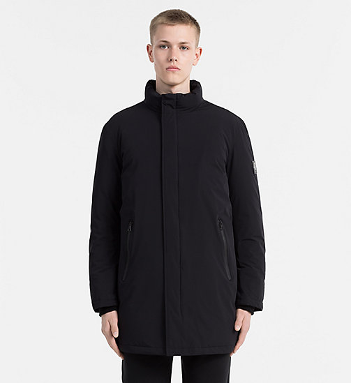CALVIN KLEIN JEANS Funnel Down Coat - CK BLACK - CALVIN KLEIN JEANS CLOTHES - main image