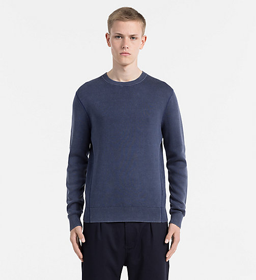 Combed Cotton Sweater - DRESS BLUES - CALVIN KLEIN JEANS JUMPERS - main image