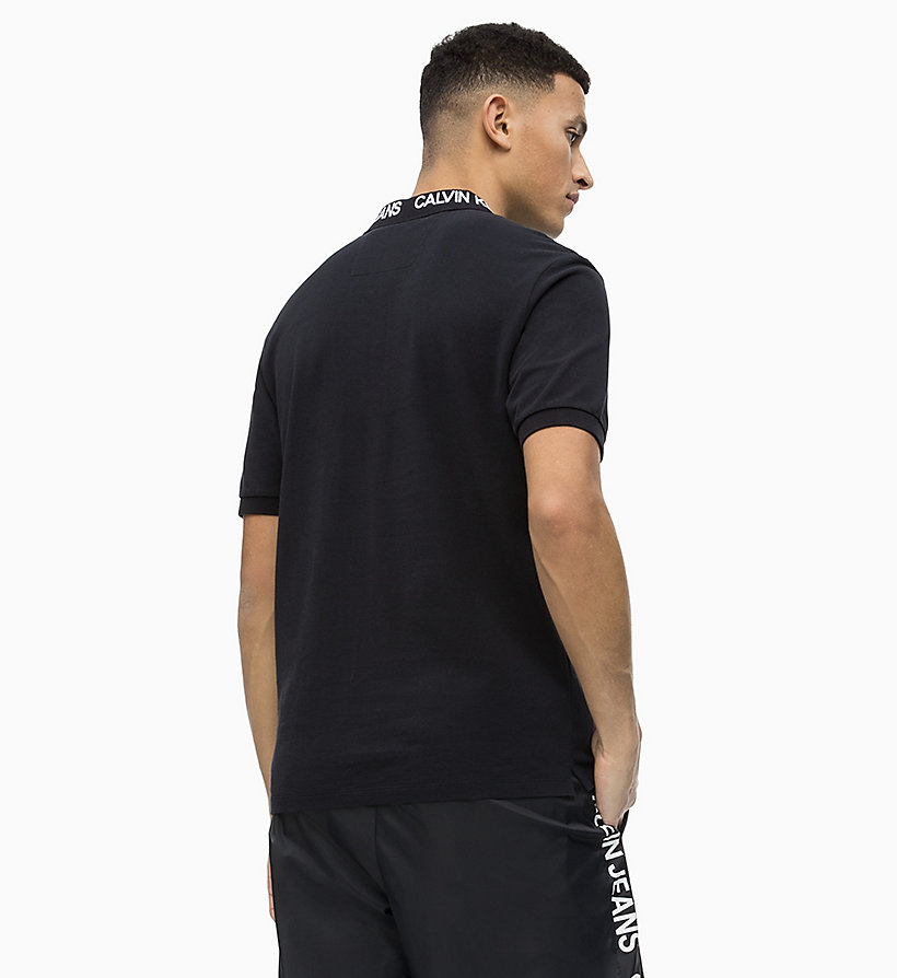 Calvin Klein - Polo de piqué de algodón con logo en el cuello - 2