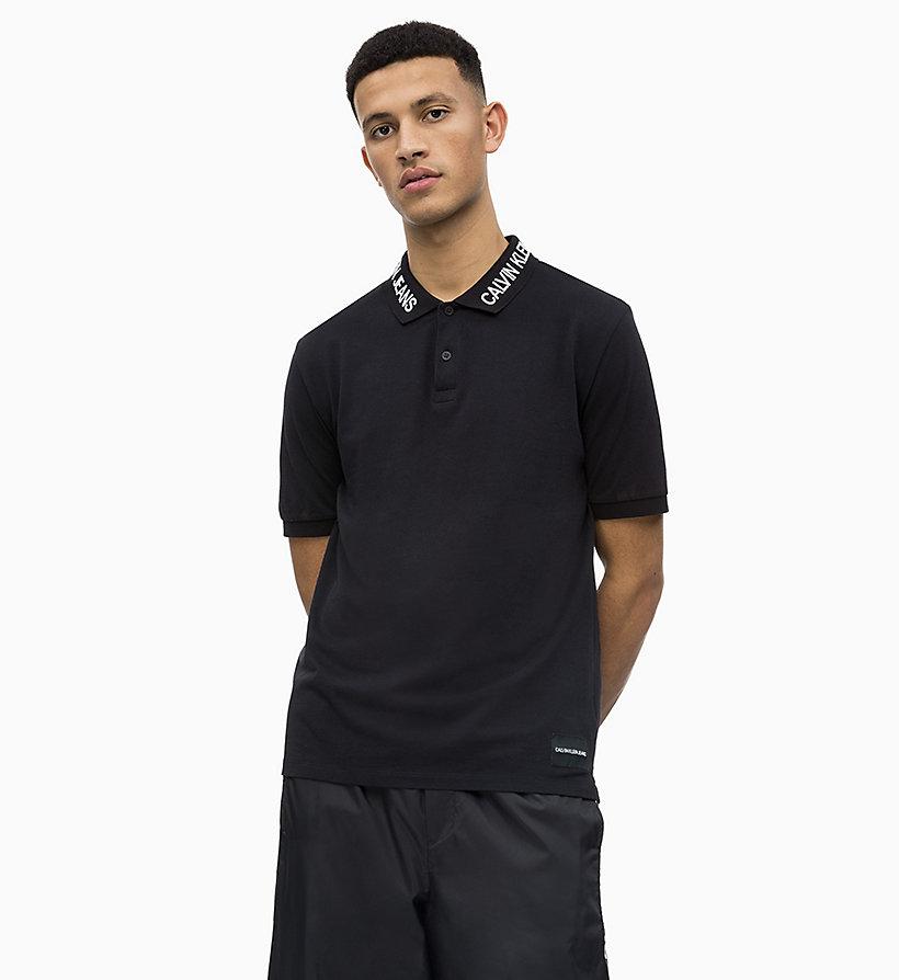 Calvin Klein - Polo de piqué de algodón con logo en el cuello - 1