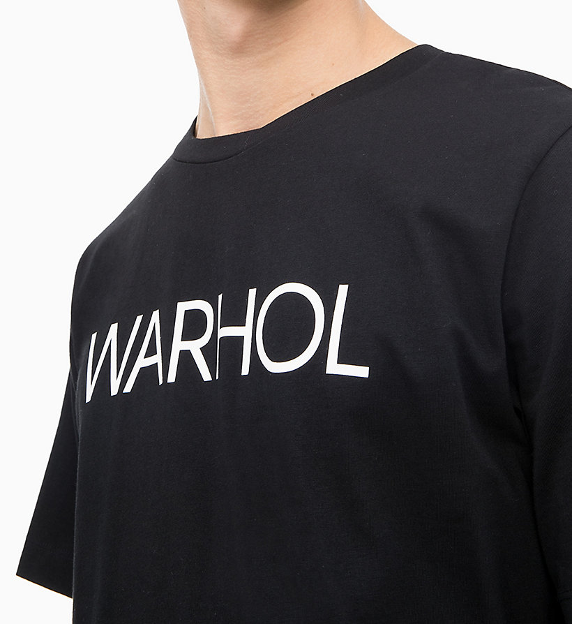 Calvin Klein - Camiseta con logo de Andy Warhol - 3