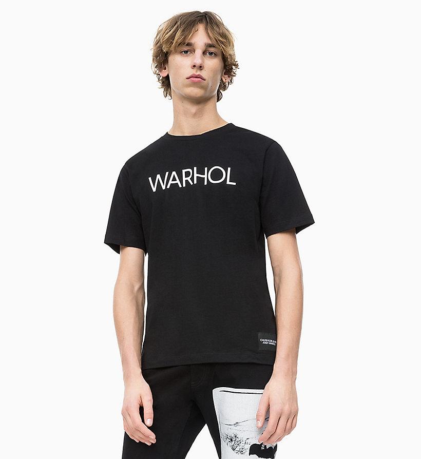 Calvin Klein - Camiseta con logo de Andy Warhol - 1