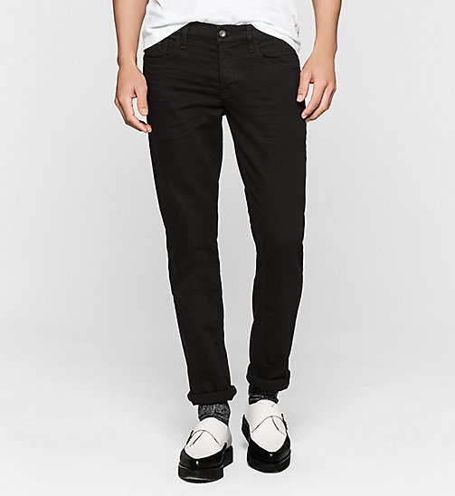 CALVIN KLEIN JEANS Slim Straight Jeans - NEW CORE BLACK RINSE COMFORT - CK JEANS CLOTHES - main image