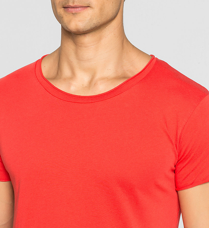 CKJEANS Regular Vintage Washed T-shirt - FIERY RED - CK JEANS T-SHIRTS - detail image 2