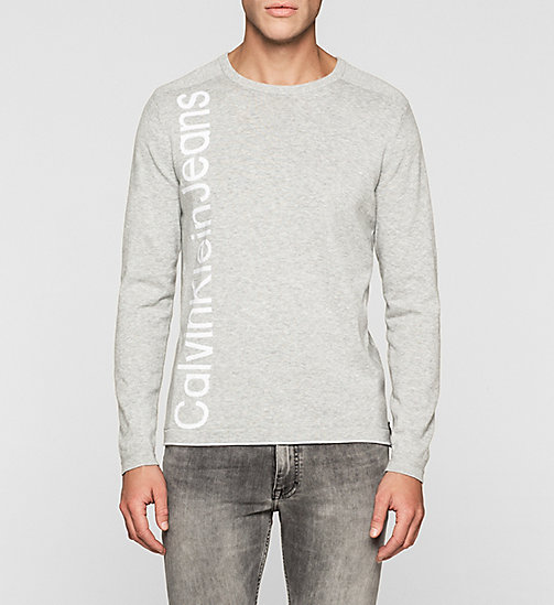 Pull avec logo - LIGHT GREY HEATHER - CK JEANS  - image principale